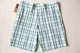 Nwt Dockers Men's D2 White Green Blue Plaid Khaki Short 36, 38, 40, 42 - $21.80