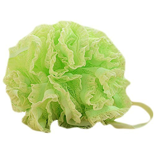 Set Of Two Lovely Soft Chiffon Lace Bath Ball Bath Spend More Upset(Green)