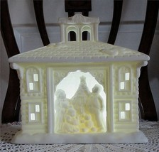 Party Lite Victorian Manor House Christmas Holiday Tealight Candle Holder No Box - $24.00