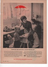 Travelers Insurance Companies Vintage Print Ad Wife Kids June 1963 Time Mag - $5.99