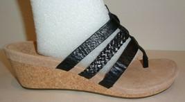 UGG Australia Size 8 MADDIE Black Leather Wedge Heel Sandals New Womens ... - $117.81