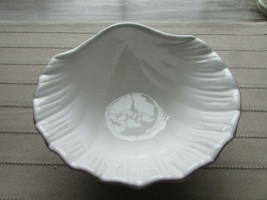 "Lenox White Conch Shell Pattern Candy Dish American By Design 6.5"" - $7.87"