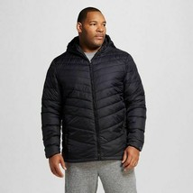 C9 Champion Men's Big & Tall Lightweight Hooded Black Packable Puffer Ja... - $37.61