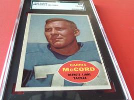 1960   DARRIS   McCORD  #  45   TOPPS   SGC  80    DETROIT  LIONS   FOOT... - $29.99