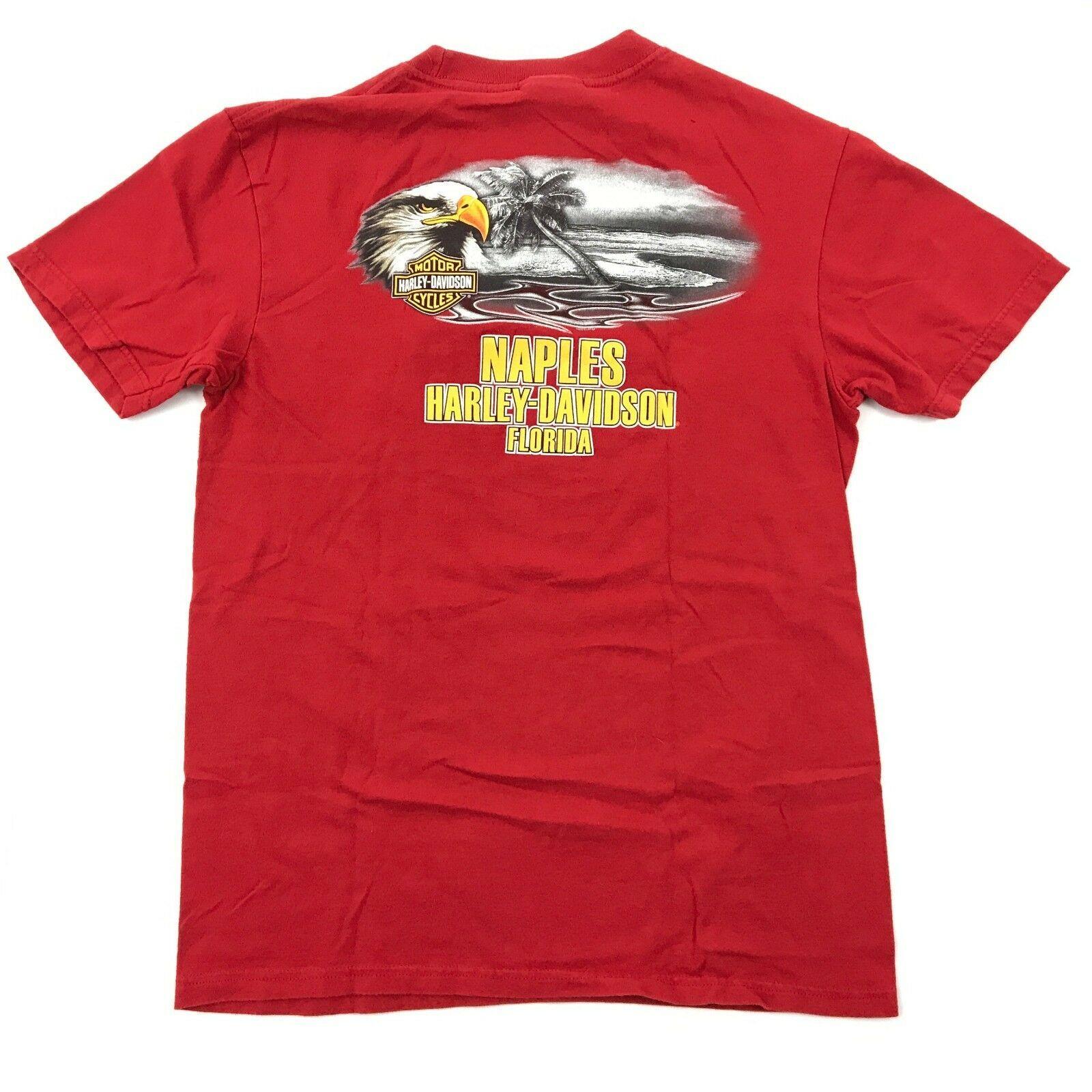 Harley Davidson Timeless Tradition Camicia Adulto Rosso Medio Maglietta Due Lati image 2