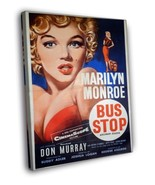 Marilyn Monroe Bus Stop Retro Movie Vintage Decor FRAMED CANVAS Print  - $19.95+