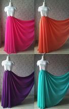 Aline Chiffon Maxi Skirt High Waisted Wedding Chiffon Skirt Purple Green Pink image 1