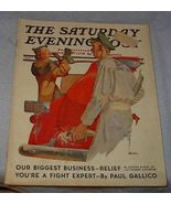 Saturday Evening Post Magazine April 3, 1937, McCauley Conne - $18.00