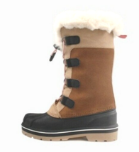 Cat & Jack Big Girls' Youth Brown Tan Constance Faux Fur Winter Waterproof Boots image 2