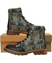 GO Fishing Fisherman Boots Men Winter Warm Fish Ethnic Patterns PU Shoes - $74.99+