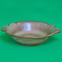 Vintage Frankoma Brown Satin Pottery - Bowl With Handles #30B - $4.95