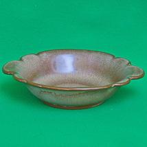 Vintage Frankoma Brown Satin Pottery - Bowl With Handles #30B - $4.95