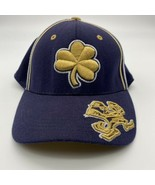 Vintage Notre Dame Four Leaf Clover Fitted Hat Cap 90s Top Of The World TOW - $64.35
