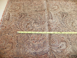 Tan Brown Paisley Print Upholstery Fabric 1 Yard  F1135 - $39.95