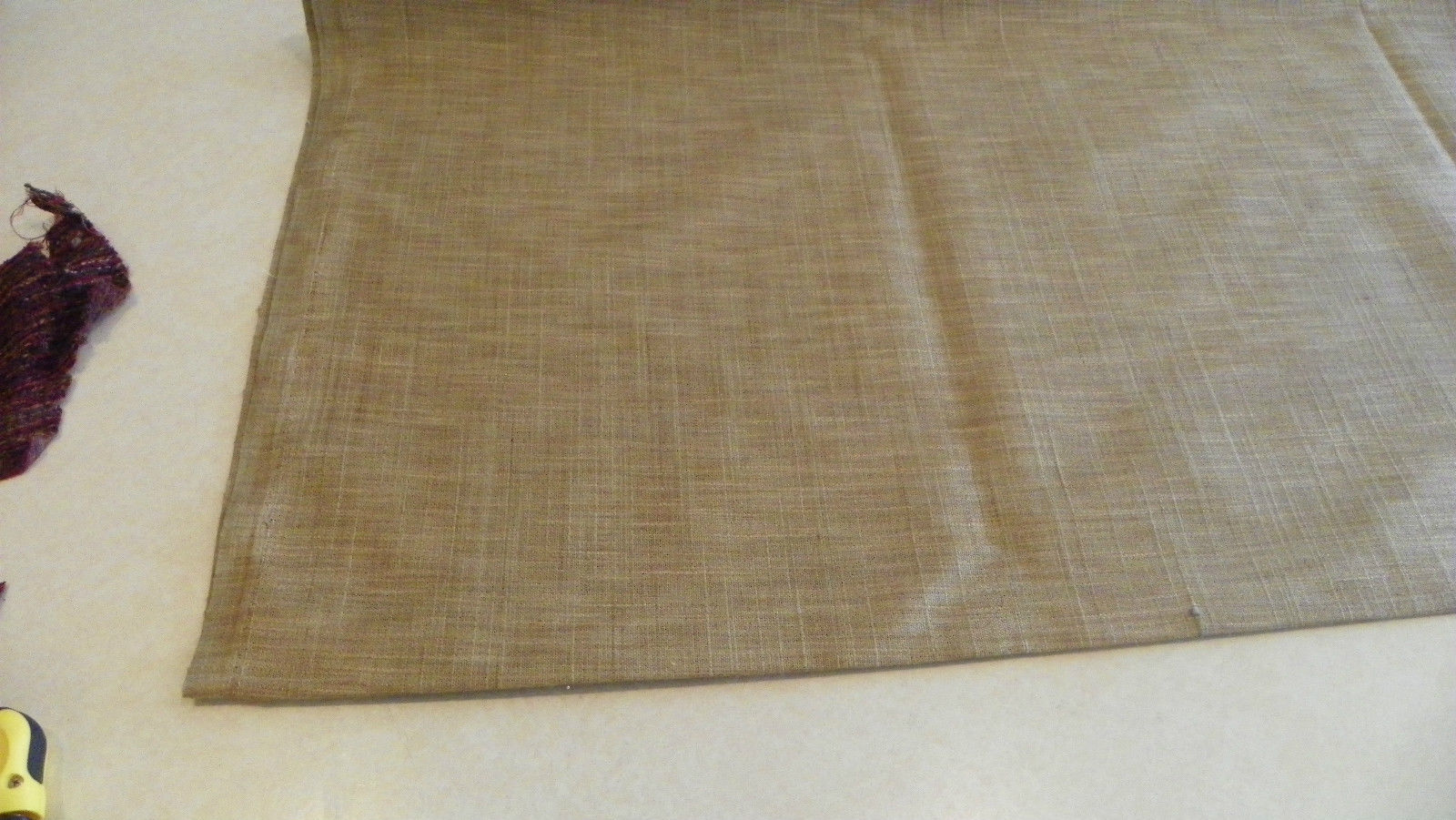 Tan or Beige Canvas Upholstery Fabric  1 Yard  F1129