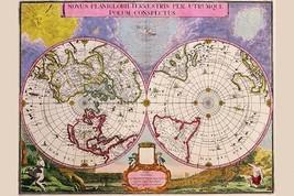 Novus Planiglobii Terrestris Per Utrumque Polum Conspectus; Stereographic Map of - $19.99+