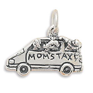 Sterling Silver Mom's Taxi Charm