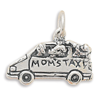 Sterling Silver Mom's Taxi Charm - $26.95