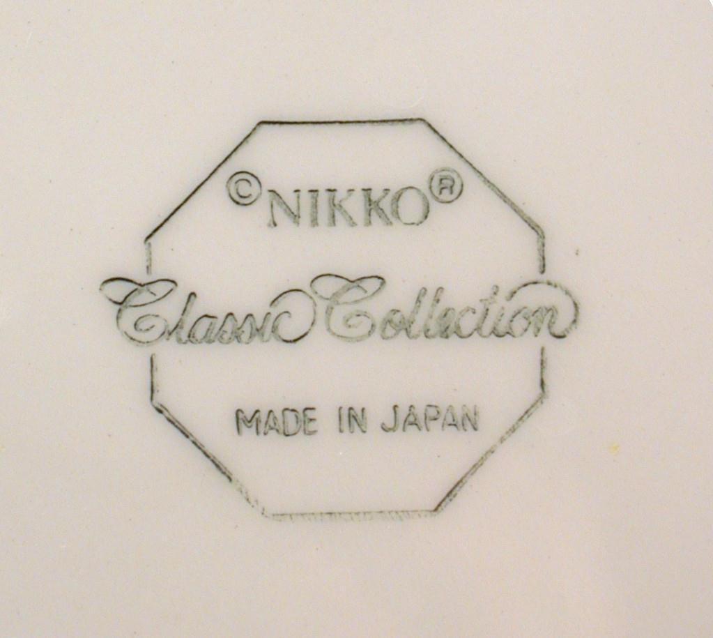 Nikko Octagonal Christmastime Saucer Japan Classic Collection Black Mark