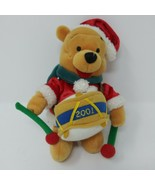 "Disney Beanie Plush 2001 Christmas Drummer Boy Pooh Winnie the Pooh 8"" EUC - $11.26"
