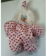 Vintage Porcelain and Sandbag Clown Red Polka Dot Outfit - $12.00