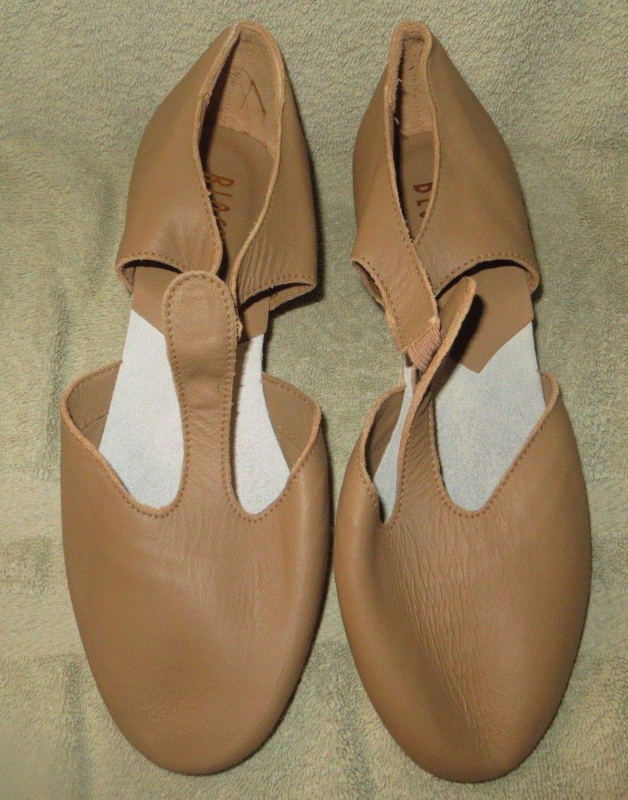 Bloch SF3720G Child Size 7.5M Tan Tie Tap Shoe