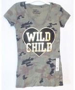 Fifth Sun Womens Junior T-Shirts Wild Child Cam... - $7.69