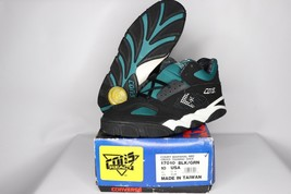 Vtg 90s New Converse 10 Cons React Court Marshal Mid Basketball Shoes Black - £76.24 GBP