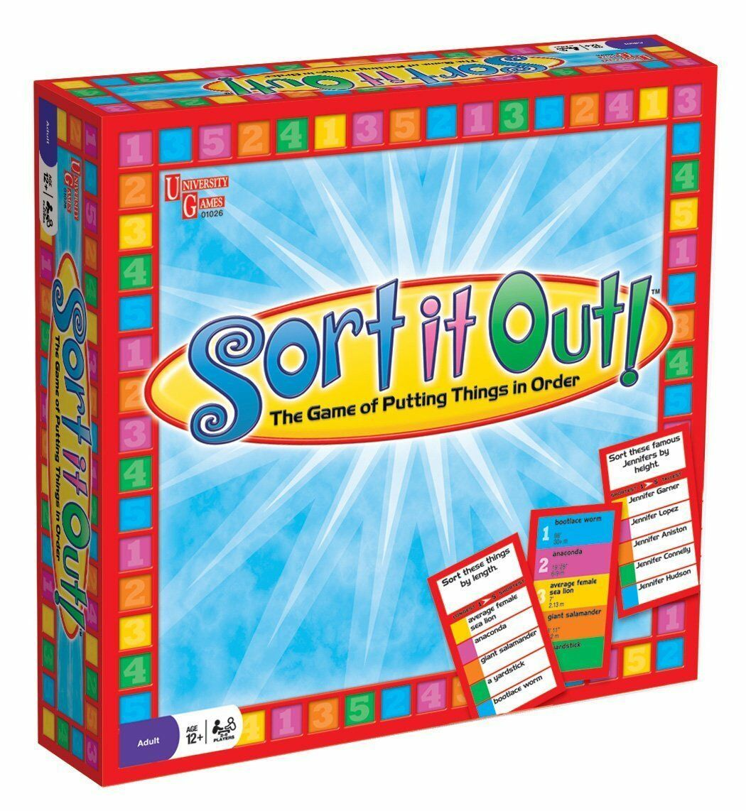 Primary image for SORT IT OUT! FAMILY BOARD GAME BY UNIVERSITY GAMES 01026 - NEW SEALED BOX 2009