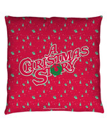 Manta Cojines Auténtico a Christmas Story Logo Cojín Decorativo - $53.17