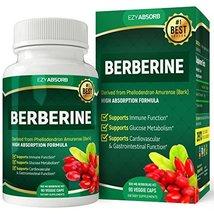 EzyAbsorb Gluten-Free Berberine 500mg, 90 Veggie Capsules for Blood Sugar Suppor image 3