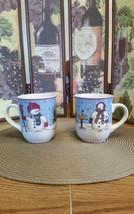 2 Meiwa Table Art Snowman Serenade II Coffee Cups / Mugs - $8.79