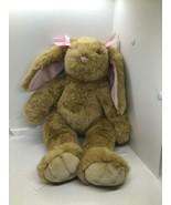 "Build A Bear BAB 17"" Plush Brown Bunny Rabbit Pink Ears with Hair Bow - ... - $16.83"