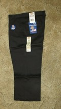 "DICKIES Girls Jr Black Uniform Capri Sz 13 Boot Cut Waist 34.5"" x Inseam... - $14.80"