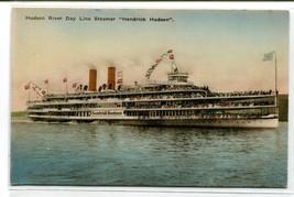 Steamer Hendrick Hudson Hudson River Line New York hand colored postcard - $6.39