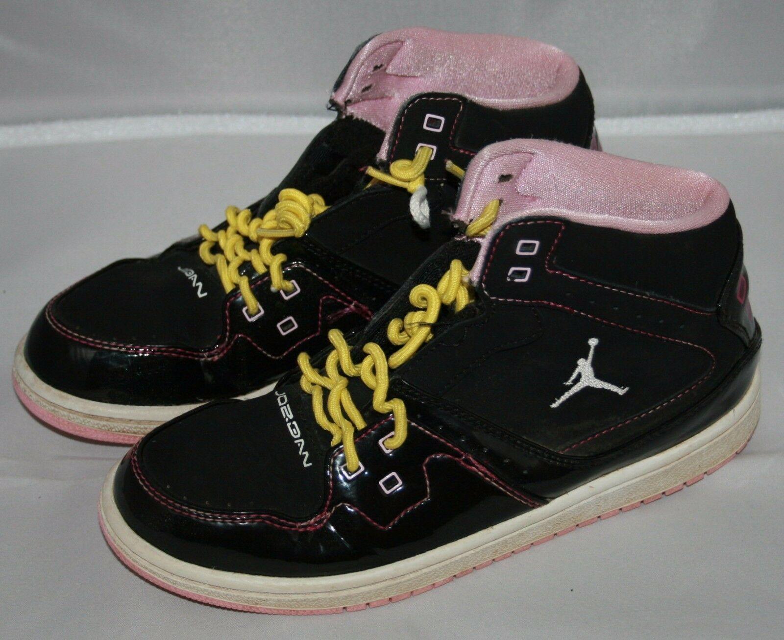 Nike Flight Jordan Sneakers Sz 3 Jahre Jugend Kinder Gelb Lockig Schnürsenkel