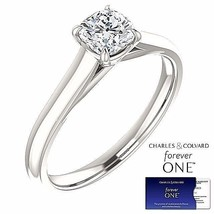 0.65 Carat Cushion Moissanite Forever One Solitaire Ring (Charles & Colv... - $399.00