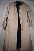 London Fog Mens Tempo Europa Lined Khaki Rain Trench Belted Jacket 6 - $89.10