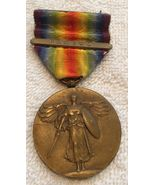 1914-18 WW I The Great War For Civilization US Bronze Victory Medal Fran... - $124.00