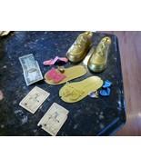 2 Poll Parrot Shoe Plastic Advertise Bank Vtg Prize Premium Money Butterfly Ring - $59.95