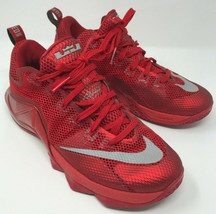 Nike LeBron XII Low Basketball Shoes Men's Size 8-1/2 Red 12 - $68.59