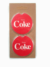 Coca-Cola Absorbent Stone Car Cup Holder Coaster Set of 2 - BRAND NEW - $5.94