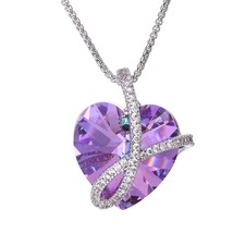 Heart of Love Crystals from Girl Necklaces Pendant Jewelry  - $69.44
