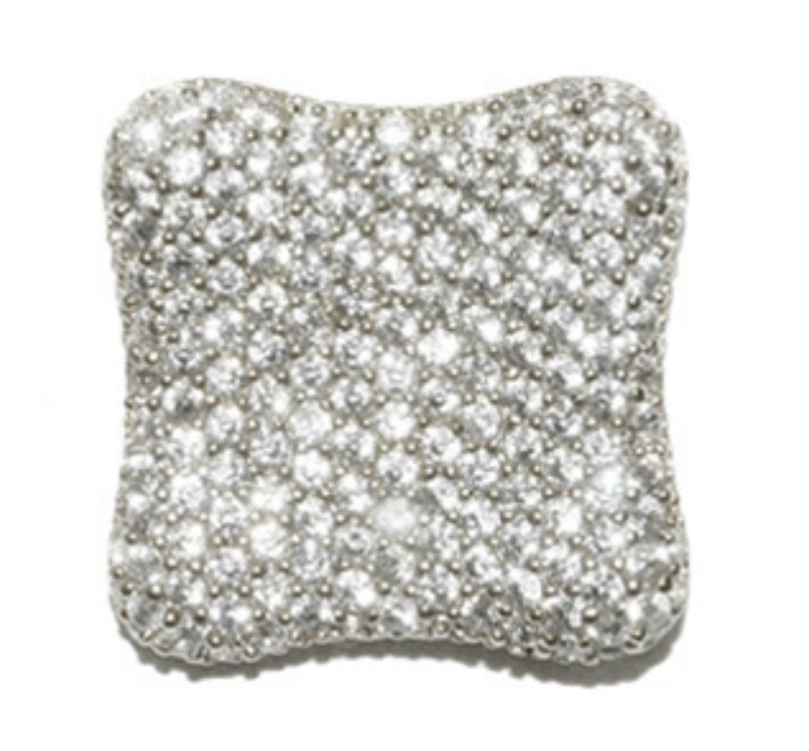 Deneen Pave Cluster Square CZ Stud Earrings | Cubic Zirconia | Silver
