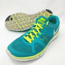 Nike Flex 2014 Run Womens 7.5 Running Shoes Turquoise Blue High Viz Ligh... - $26.90