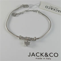 Silver 925 Bracelet Jack&co with Star Dog Butterfly Clover or Cat image 4