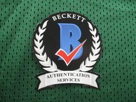 GARY PAYTON / AUTOGRAPHED SEATTLE SUPERSONICS GREEN CUSTOM JERSEY / BECKETT  image 6