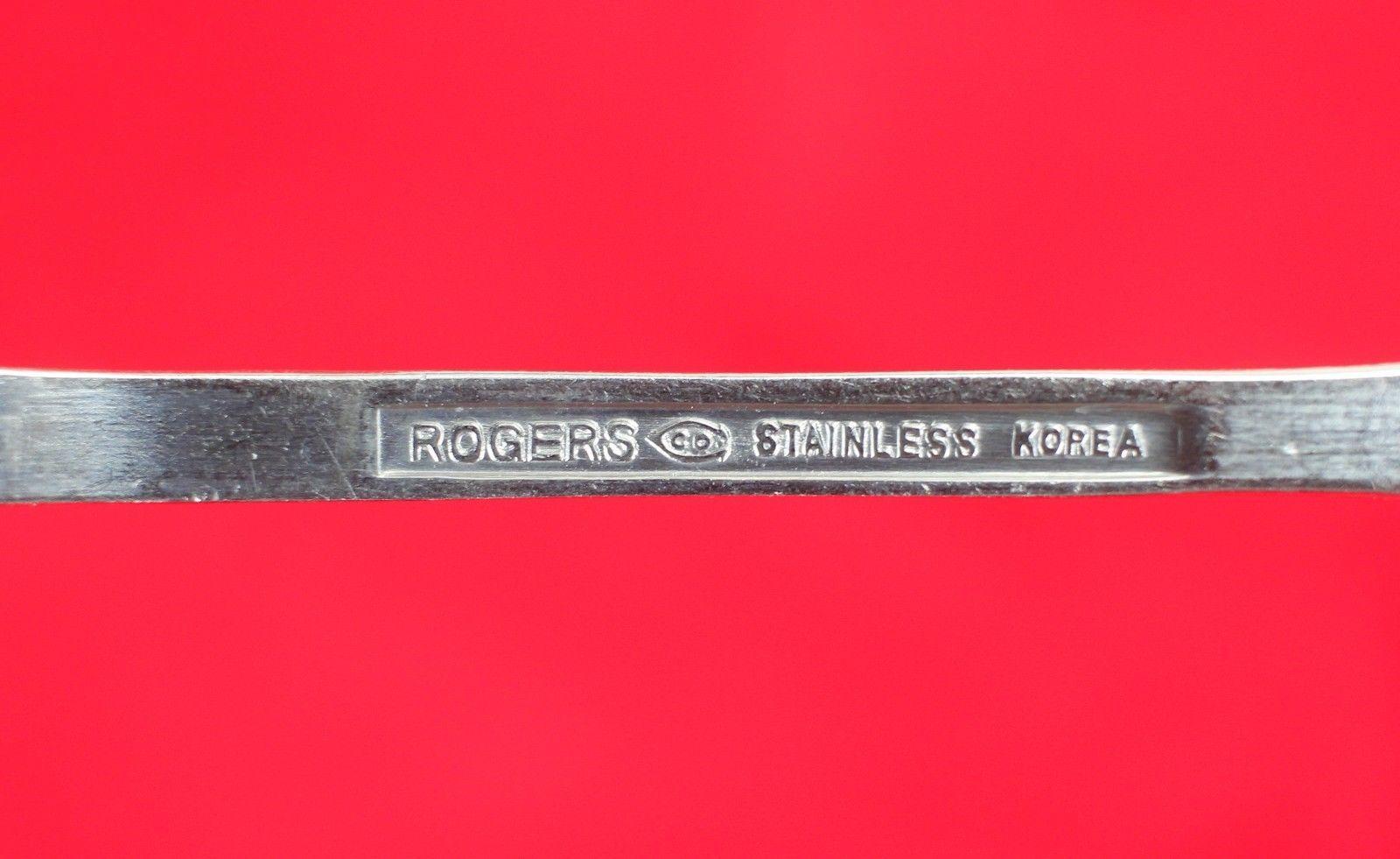 "4X Salad / Dessert Forks FB Rogers Stainless Flat Square Flatware 6 1/8"" Fork"