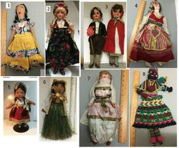 Choice 1930's Vintage Souvenir Dolls : Norway, Irish, Mexico, Hawaiian, ... - $16.99+