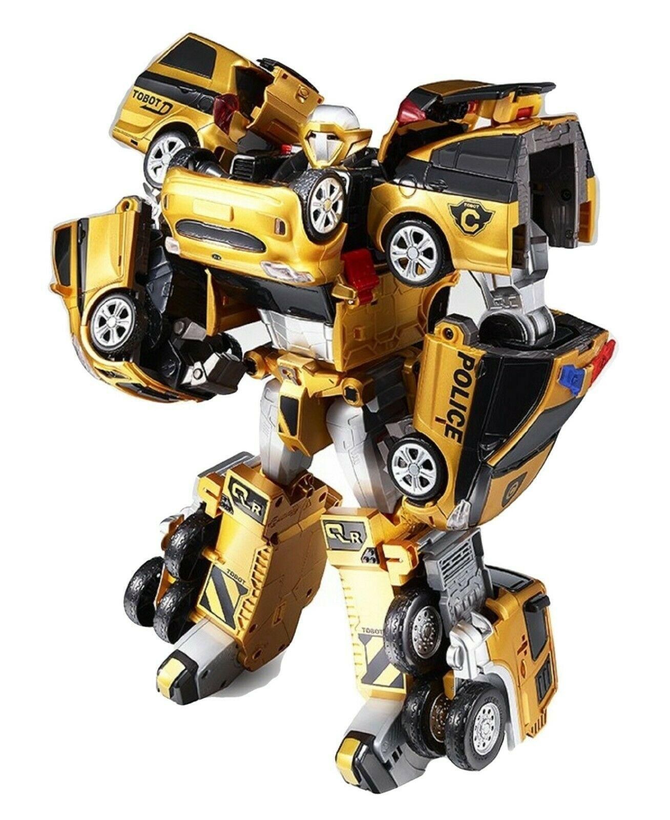 Tobot V Gold Quatran Toy Robot Transforming Transformation Action Figure